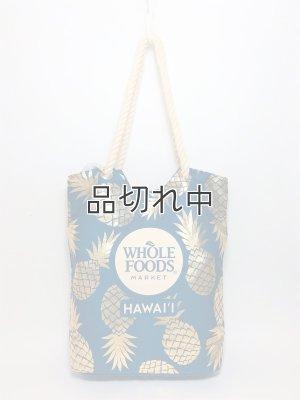 画像1: 【Whole Foods Market/ホールフーズマーケット】ハワイ限定☆ロープエコバッグ:ネイビー×ゴールドパイナップル