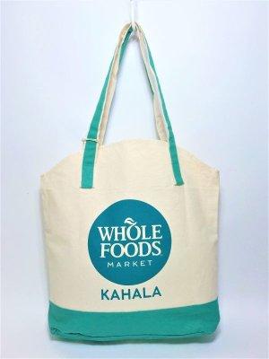 画像1: 【Whole Foods Market/ホールフーズマーケット】ハワイ限定☆エコバッグ:アロハトート(カハラ)