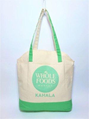 画像1: 【Whole Foods Market/ホールフーズマーケット】ハワイ限定☆エコバッグ:パイナップルトート(カハラ)