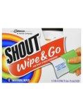 【Shout/シャウト】Wipe & Go (ワイプアンドゴー)携帯シミ抜きウェットティッシュタイプ:12個入り